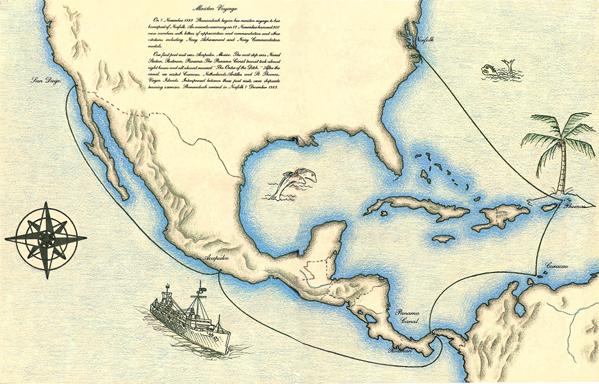 USS Shenandoah (AD-44) Maiden Voyage
